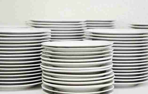 plates ready to be packed for moving houses