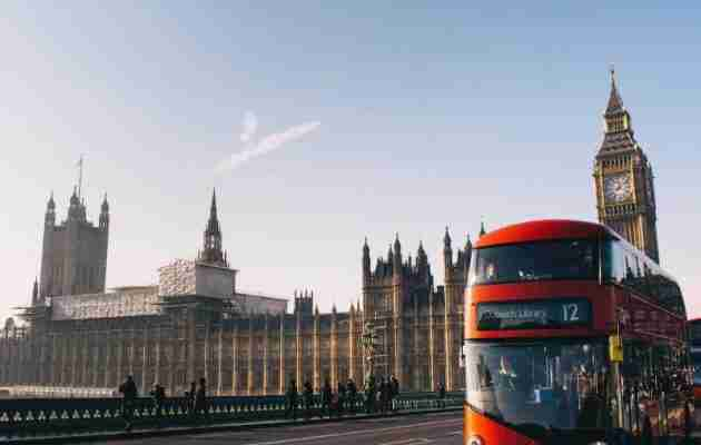 Big Ben & red bus in London