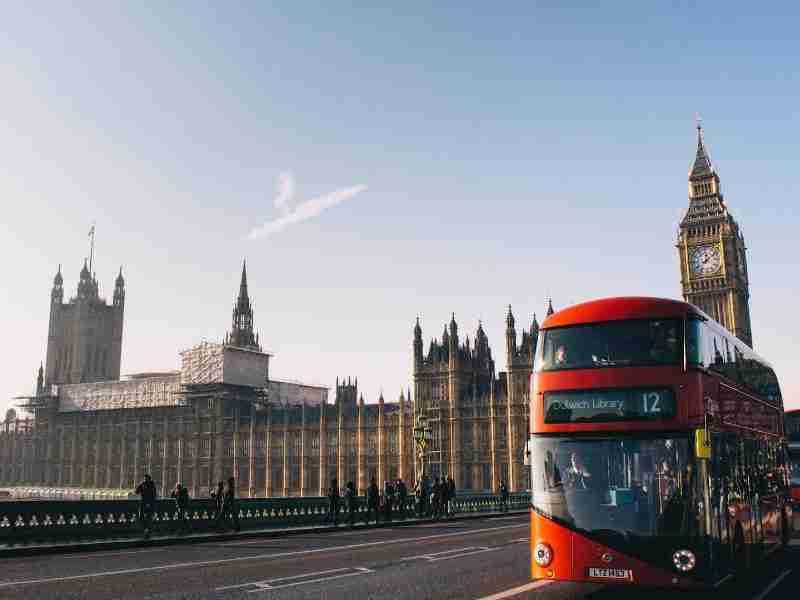 Big Ben & red bus in London