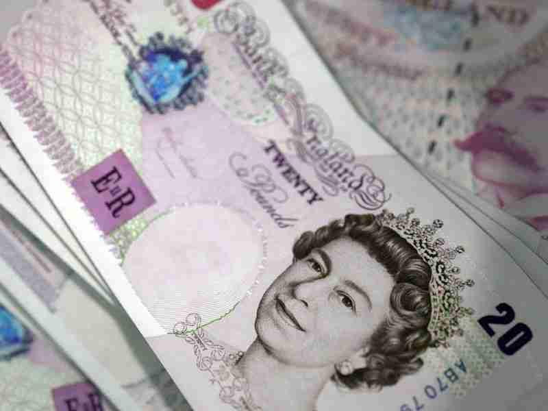 twenty british pounds