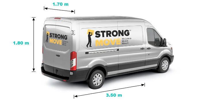 man with a transit van width=