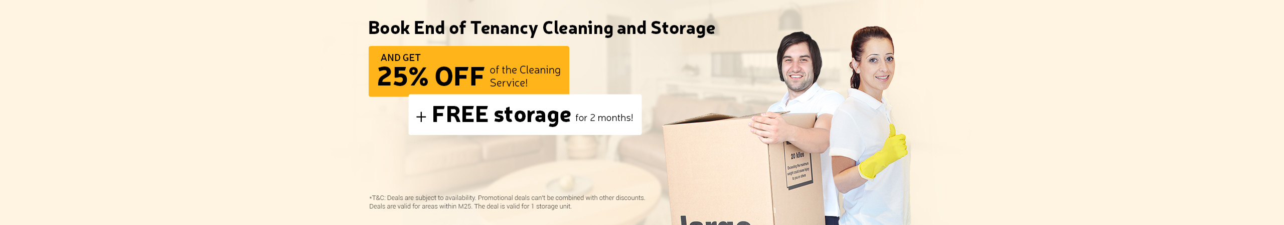 Book End of Tenancy Cleaning and Storage