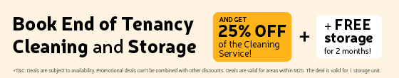 Get deal End of Tenancy and Storage!