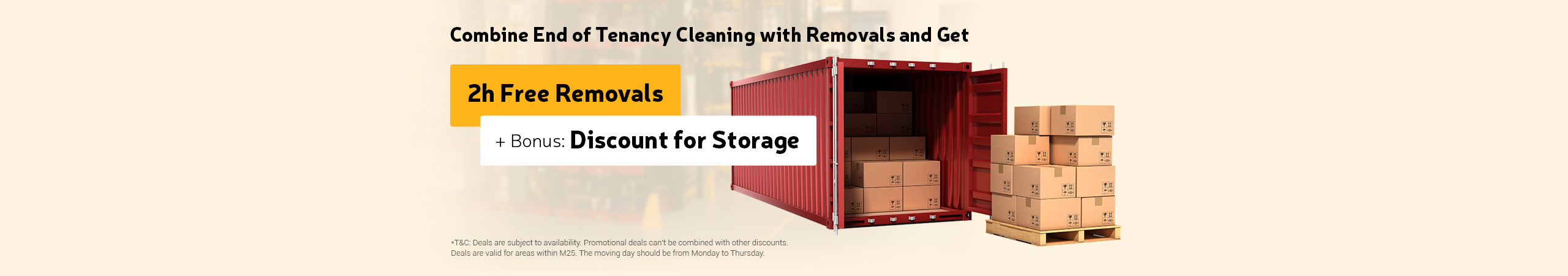 Book Removals and End of Tenancy Cleaning